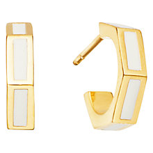 Buy Astley Clarke Prismic Seashell Enamel Hoop Earrings, White Online at johnlewis.com