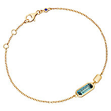 Buy Astley Clarke Prismic London Blue Topaz Bracelet, Blue Online at johnlewis.com