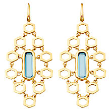 Buy Astley Clarke London Blue Topaz Chandelier Earrings, Blue Online at johnlewis.com