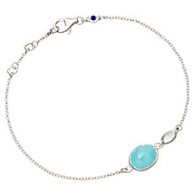 Buy Astley Clarke Stilla Milky Aqua Sterling Silver Bracelet, White Online at johnlewis.com