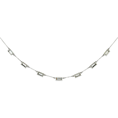 Cachet Brick Necklace, Silver