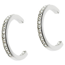 Buy Cachet London Large Hoop Earrings, Silver Online at johnlewis.com