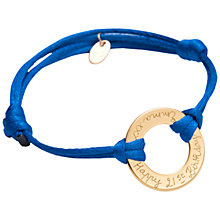 Buy Merci Maman 18ct Gold Plated Personalised Eternity Bracelet Online at johnlewis.com