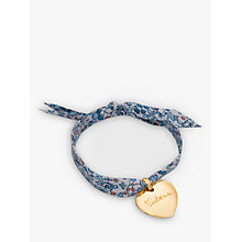 Buy Merci Maman Personalised 18ct Gold Plated Heart Liberty Bracelet Online at johnlewis.com