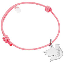 Buy Merci Maman Sterling Silver Personalised Dove Children's Bracelet Online at johnlewis.com