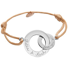 Buy Merci Maman Sterling Silver Personalised Intertwined Bracelet Online at johnlewis.com