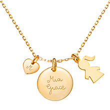Buy Merci Maman Duchess Girl Personalised Charm Necklace Online at johnlewis.com