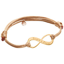 Buy Merci Maman 18ct Gold Plated Personalised Infinity Bracelet Online at johnlewis.com