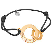 Buy Merci Maman 18ct Gold Plated Personalised Intertwined Bracelet Online at johnlewis.com
