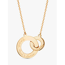 Buy Merci Maman Personalised Intertwined Charm Necklace Online at johnlewis.com