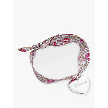 Buy Merci Maman Sterling Silver Personalised Heart Liberty Bracelet Online at johnlewis.com
