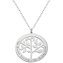 Buy Merci Maman Personalised Tree Of Life Necklace Online at johnlewis.com