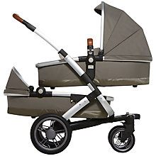 Buy Joolz Geo Twin Pushchair with Carrycot, Elephant Grey Online at johnlewis.com