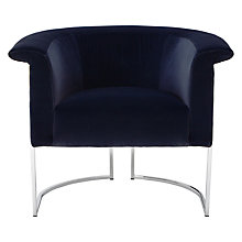 Buy Furia Bellagio Armchair, Marco Sapphire Blue Online at johnlewis.com
