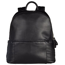 Buy Kin by John Lewis Queenie Quilt Backpack, Black Online at johnlewis.com