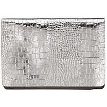 Buy Kin by John Lewis Cora Leather Clutch Bag, Gunmetal Online at johnlewis.com
