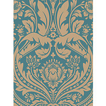 Buy Graham & Brown Desire Wallpaper, Teal/Gold, 50-028 Online at johnlewis.com