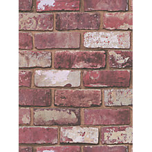 Buy Laurence Llewelyn Bowen Hemingway Wallpaper, Red Brick, 57146 Online at johnlewis.com