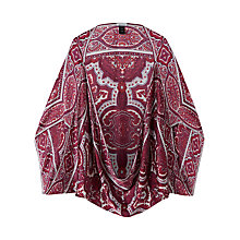 Buy Jigsaw Paisley Silk Hammered Cape Online at johnlewis.com