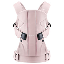 Buy BabyBjörn One Baby Carrier, Pink Online at johnlewis.com