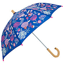 Buy Hatley Field Flowers Umbrella, Navy Online at johnlewis.com