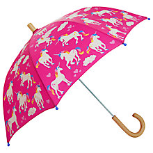 Buy Hatley Unicorns Umbrella, Pink Online at johnlewis.com