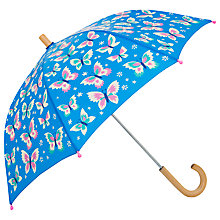Buy Hatley Butterflies Umbrella, Blue Online at johnlewis.com