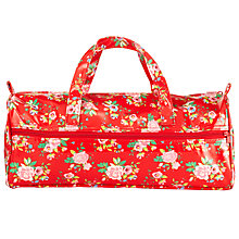 Buy John Lewis Floral Long Knitting Bag, Red Online at johnlewis.com
