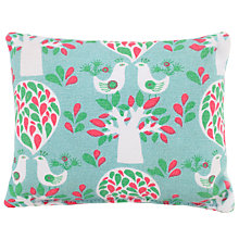 Buy John Lewis Folky Birds Print Pin Cushion, Blue Online at johnlewis.com