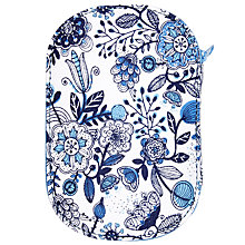 Buy John Lewis Squiggles Zipped Sewing Kit, Blue/White Online at johnlewis.com