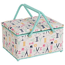 Buy John Lewis Sewing Stuff Twin Lid Sewing Basket, Multi Online at johnlewis.com