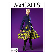 Buy McCall's Women's Flared Panel Coat Sewing Pattern, 7025 Online at johnlewis.com