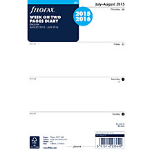 Buy Filofax Mid-Year Diary Insert, A5 Online at johnlewis.com