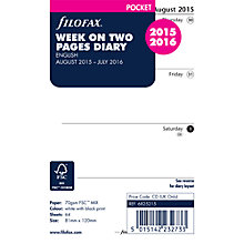Buy Filofax Pocket Mid-Year Diary Inserts Online at johnlewis.com