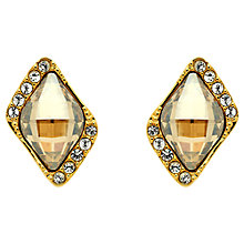 Buy Finesse Swarovski Parallelogram Stud Earrings Online at johnlewis.com