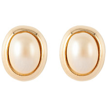 Buy Susan Caplan Vintage 1960s Hobé Gold Plated Faux Pearl Oval Clip-On Earrings, Gold Online at johnlewis.com