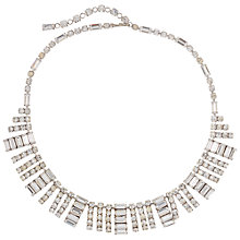 Buy Susan Caplan Vintage Bridal 1960s Silver Plated Crystal Necklace, Silver Online at johnlewis.com