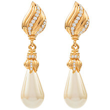 Buy Susan Caplan Vintage Bridal 1970s Hobé Gold Plated Faux Pearl Drop Clip-On Earrings, Gold Online at johnlewis.com