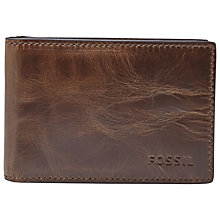 Buy Fossil Derrick Money Clip Bifold, Dark Brown Online at johnlewis.com