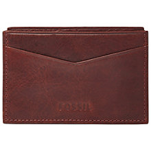 Buy Fossil Ingram Card Case, Brown Online at johnlewis.com