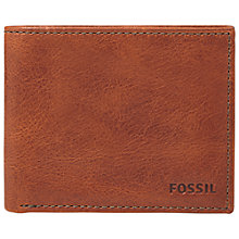 Buy Fossil Conner Slim Bifold, Cognac Online at johnlewis.com