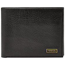 Buy Fossil Omega Bifold ID, Black Online at johnlewis.com