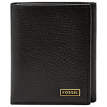 Buy Fossil Omega Trifold, Black Online at johnlewis.com