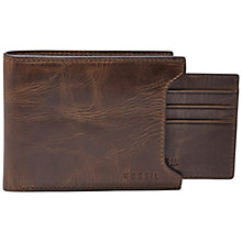 Buy Fossil Derrick Sliding 2 in 1 Wallet, Dark Brown Online at johnlewis.com