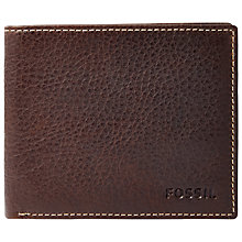 Buy Fossil Lincoln Bifold, Brown Online at johnlewis.com