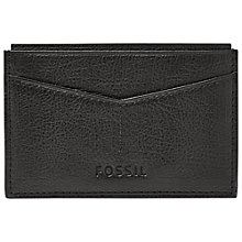 Buy Fossil Omega Card Case, Black Online at johnlewis.com