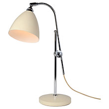 Buy Original BTC Task Table Light, Cream Online at johnlewis.com