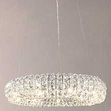 Buy John Lewis Bangles Large Crystal Pendant, Clear/Chrome Online at johnlewis.com