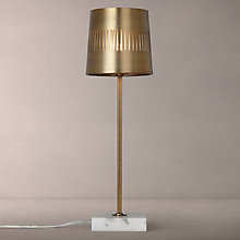 Buy John Lewis Blair Marble & Satin Brass Table Lamp Online at johnlewis.com