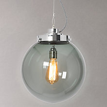 Buy Original BTC Globe Pendant Light, Anthracite Online at johnlewis.com